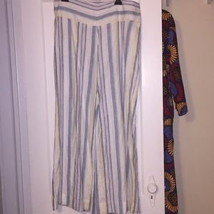 Pants - Striped Linen Pants